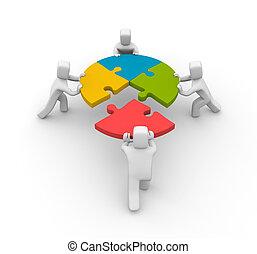 Partnership concept. Isolated on white