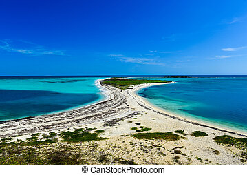 Bush Key in the Dry Tortugas National Park as seen from Fort...