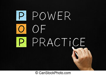 Power Of Practice Acronym - Hand writing POP - Power Of...