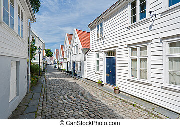 Stavanger street. Travle on Norway