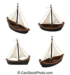 velero, estatuilla, figura, aislado