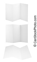 Set of folded A4 paper sheets - Collection of folded A4...