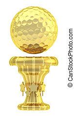 Award golf ball sport trophy cup - Award golf ball sport...