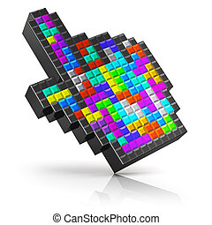 Colorful link selection cursor - Creative abstract modern...