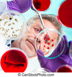 Life science research. - Focused senior life science...