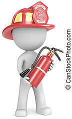 Firefighter - Dude the Firefighter holding fire extinguisher...