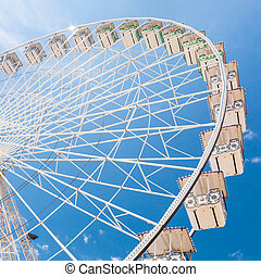Ferris wheel of fair and amusement park - Ferris wheel of...