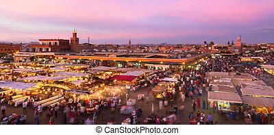 Jamaa el Fna, Marrakesh, Morocco. - Jamaa el Fna (also Jemaa...
