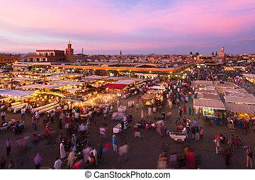 Marrakesh,  EL,  jamaa, maroc,  fna