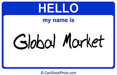 name global market - hello my name is global market blue...