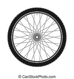 Isolated Bicycle Wheel - Bike part illustration with spokes...