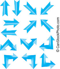 blue arrow - suitable for user interface