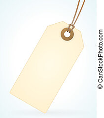 Recycled Paper Label - Scalable empty recycled paper tag...