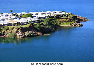 Lake Havasu - Neighborhood in the middle of Lake Havasu in...