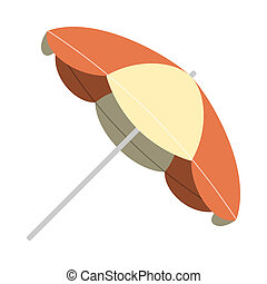 Vintage Parasol - Illustration of vintage summer time sun...