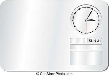 clock decorations - suitable for user interface or...