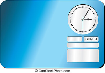 clock decoration - blue - suitable for user interface or...