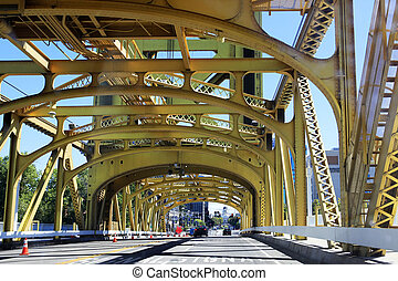 Golden Tower Bridge - Sacramento Golden Tower Bridge from...
