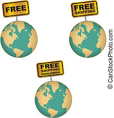 free shipping worldwide icon sets