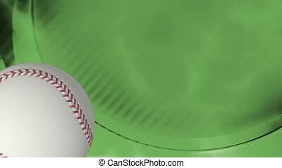 Baseball green abstract loop 3484 - HD baseball green...