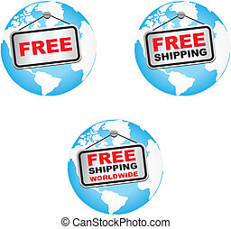 set of free shipping worldwide - suitable for user interface