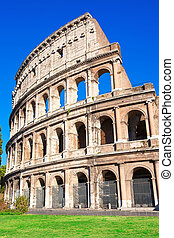 Colosseum in Rome - Beautiful view of famous ancient...