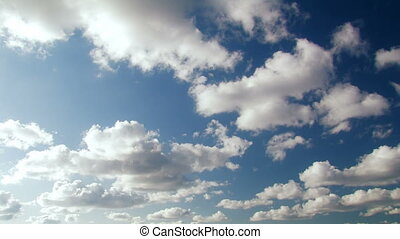 Blue clouds Time Lapse Background.