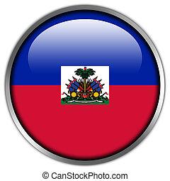 Haiti Flag glossy button