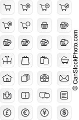 ecommerce icon sets - suitable for user interface
