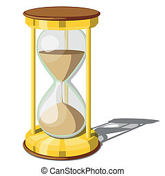 Hourglass isolated on white background. Clip- art