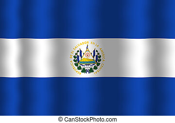 Waving El Salvador Flag