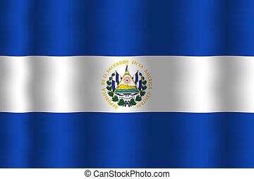 Waving El Salvador Flag