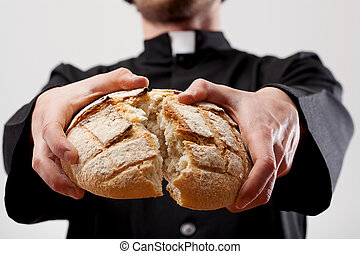 Symbol of Communion breaking bread - Symbol of Communion...