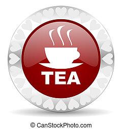 tea valentines day icon