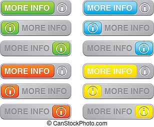 more info button sets - suitable for user interface