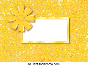 Floral card with frame