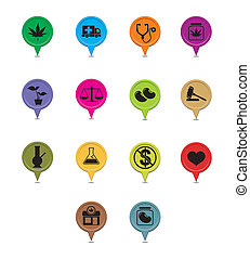 medical marijuana pointer - suitable for user interface