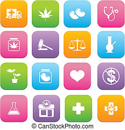 Medicinal Marijuana flat style icon - suitable for user...