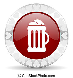 beer valentines day icon
