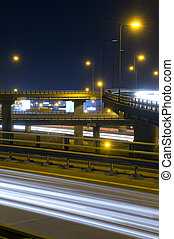 Motorway Over-pass - The viaducts of a motorway junction at...