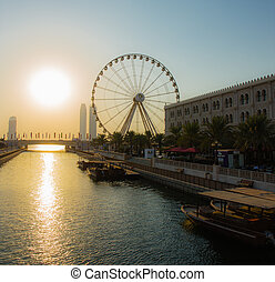 Eye of the Emirates - ferris wheel in Al Qasba in Shajah,...