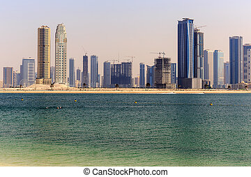 SHARJAH, UAE - OCTOBER 30: Sharjah - third largest and most populous city in United Arab Emirates, on October 30, 2013.