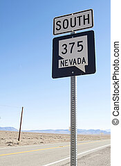Sign on a road
