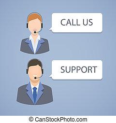 Call center support emblem