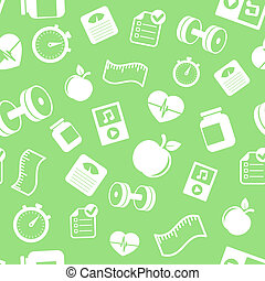 Fitness elements seamless pattern vector illustration