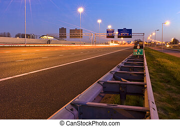 Motorway Information System - The viaducts of a motorway...