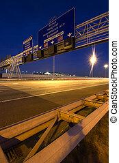 Overhead Motorway Information Signs - Steel structures,...