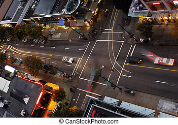 Vancouver Intersection - One of Vancouvers intersection at...