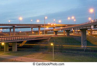 Autobahn Junction - The various motorways crossing at...