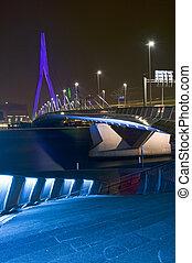 The Erasmus Bridge at Night - The famous Erasmus Bridge,...